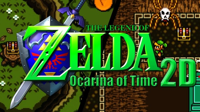 Ocarina of Time 3D, more like 2D: