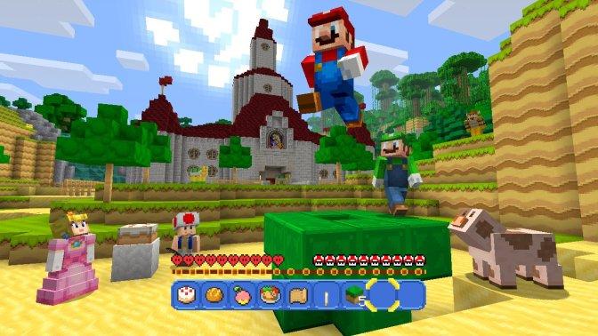 Minecraft Mario in Action (Footage)