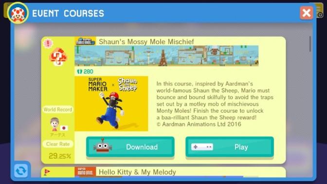 Shaun the Sheep Baa-asks in the Super Mario Maker Sun
