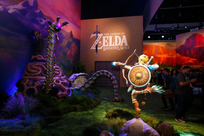 The Legend Of Zelda: Breath Of The Wild – Immersive Booth Tour @E3 2016