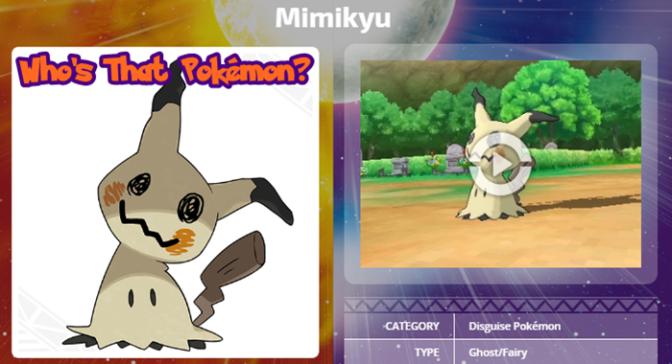 Who's That Pokémon? It's Mimikyu!