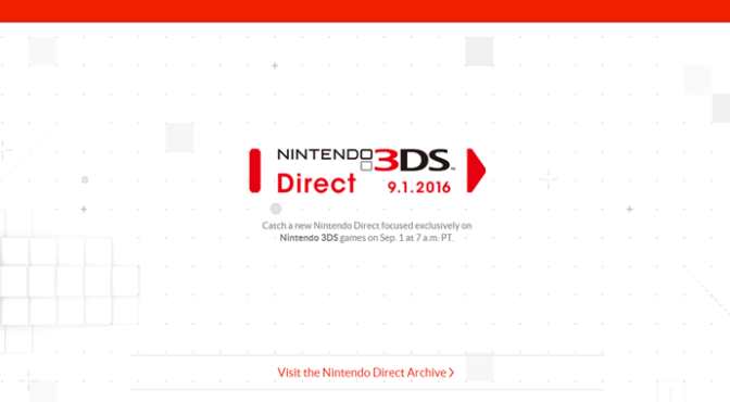 Nintendo Direct 9.1.2016 (3DS Special)
