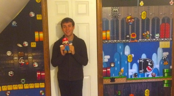 Meet the Man with his Very own Perler Bead Mario Room