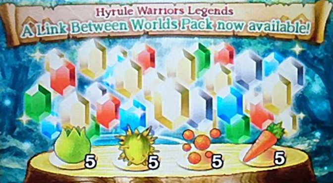 More Food and More Rupees! New SpotPass Gift for Hyrule Warriors Legends