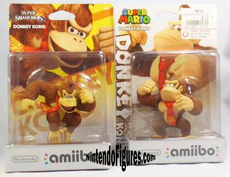 smash brothers and super mario donkey kong amiibo box