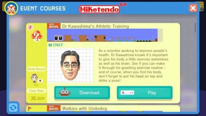 Dr. Kawashima Makes Head Way Into Super Mario Maker
