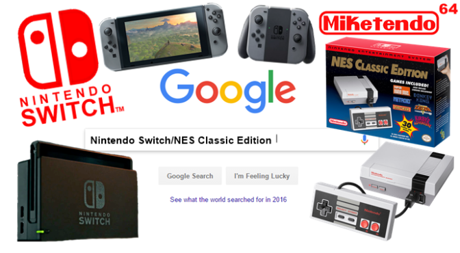 Nintendo Switch & NES Classic Edition Most Searched Videogame Console On Google For 2016
