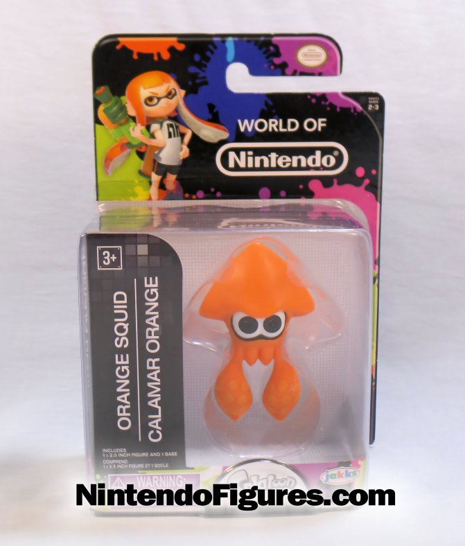 Orange Squid Splatoon World of Nintendo 2.5″ Figure Review