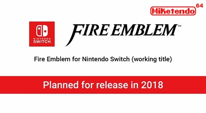 Newly Announced: Fire Emblem Title for Nintendo Switch in 2018
