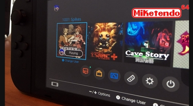 A Look at the Nintendo Switch User Interface and Nicalis' Line-up of Switch Games