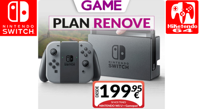 GAME España Offers Wii U Trade-In For Nintendo Switch From €199.95