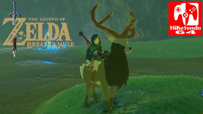 Link Can Ride The Elks In Zelda: Breath Of The Wild