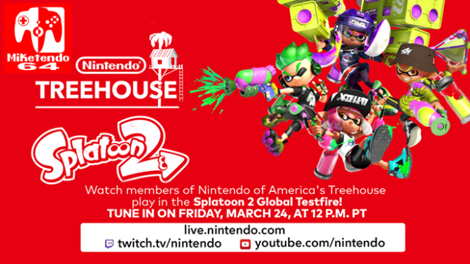 Nintendo Treehouse Will Live Stream the First event of the Splatoon 2 Global Testfire