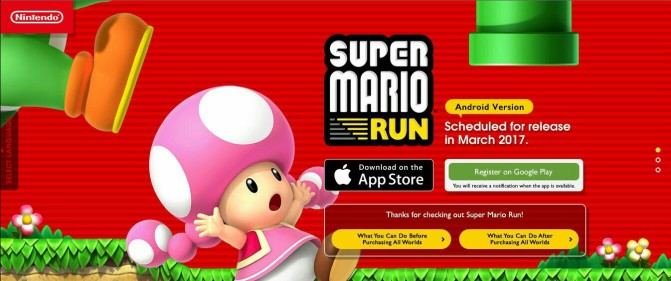 Super Mario Run has Run its Way to the Google Play Store