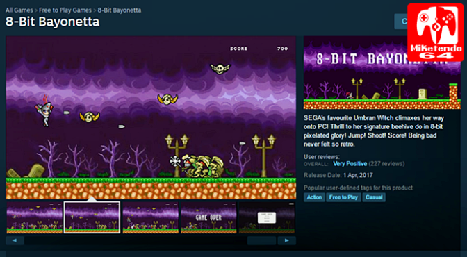 [April Fool's] 8-bit Bayonetta Comes to Steam!