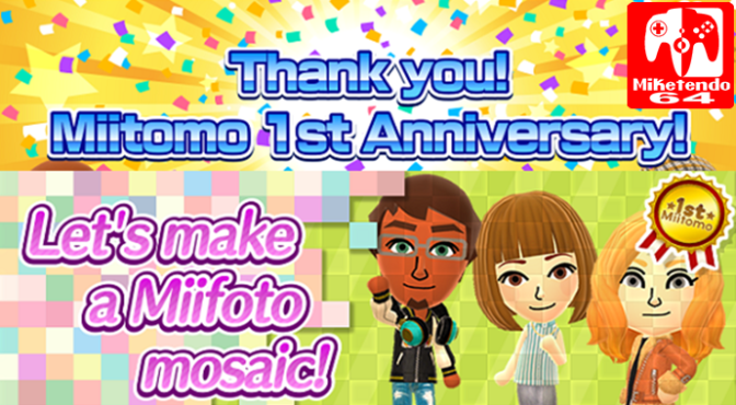 Let's Make A Miifoto Mosaic Event Now Underway In Miitomo