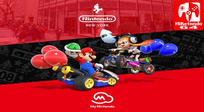 My Nintendo Users Can now Use their My Nintendo QR Code to Pick up a Free Mario Kart 8 Deluxe Poster from Nintendo NY