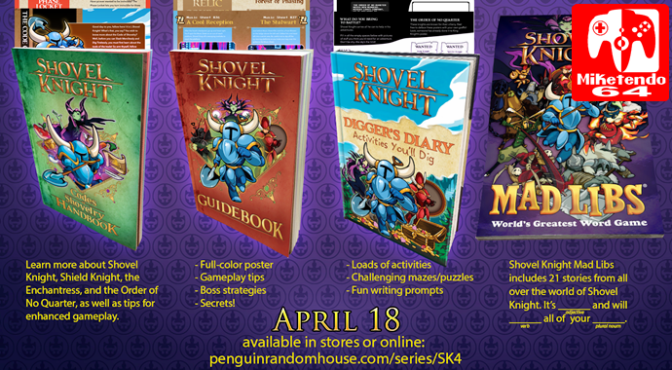 [Literature] A Quick Look at the Shovel Knight: Official Design Works Cover & Other Book News