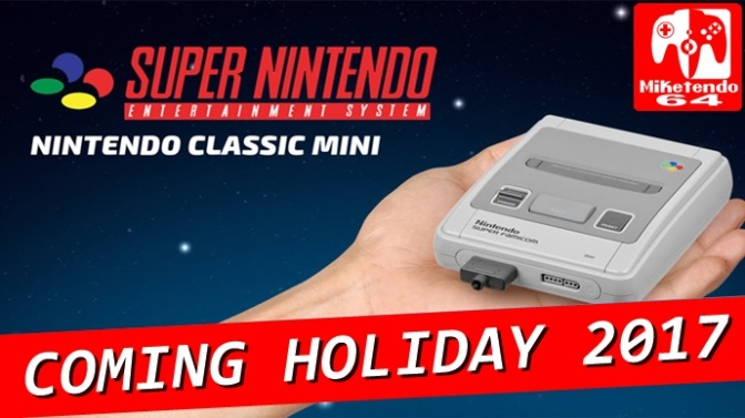SNES Classic Mini To Come This Christmas Says Eurogamer's Sources