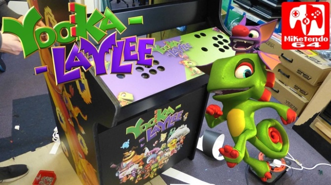 One Of A Kind Yooka-Laylee Arcade Machine Coming To London's Loading Bar For A Limited Time (UK)