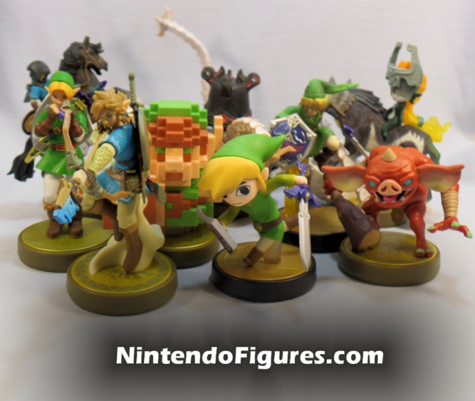 Zelda Amiibo Group Shot
