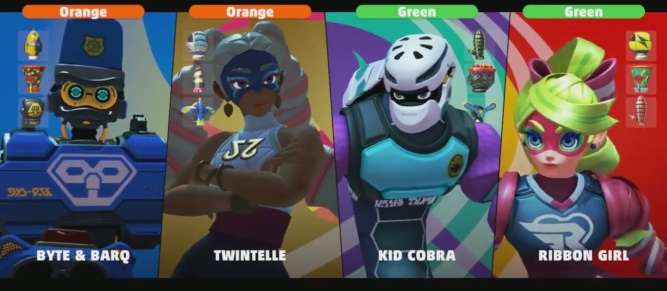 ARMS Characters