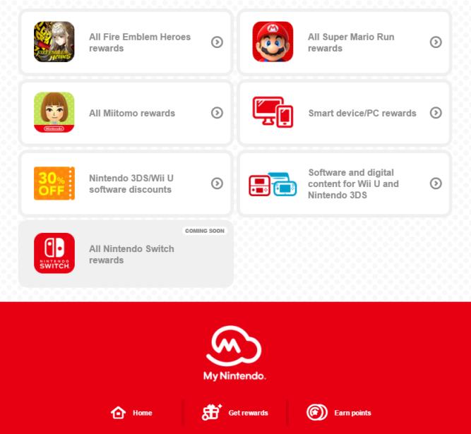 My Nintendo Switch Rewards