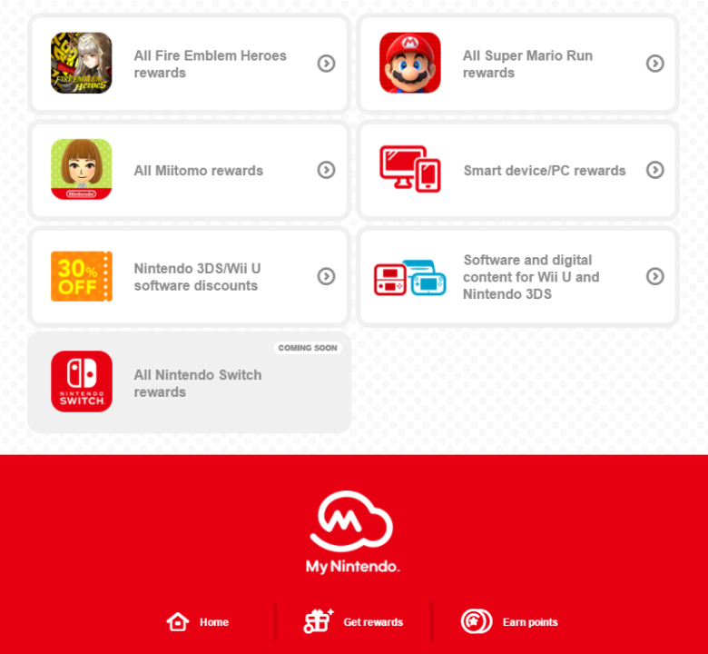 My Nintendo Switch Rewards
