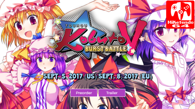 [Video] Touhou Kobuto V: Burst Battle Switch Footage Featured During Livestream