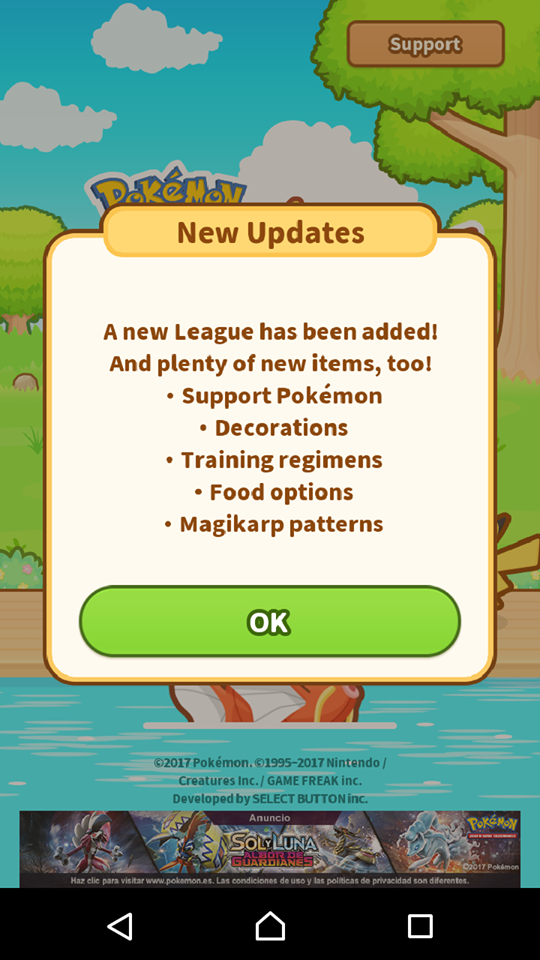 how to get to support pokemon list magikarp jump