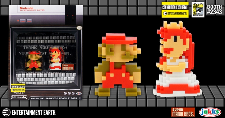 8-Bit Mario and Princess Peach 2 Pack San Diego Comic Con Exclusive
