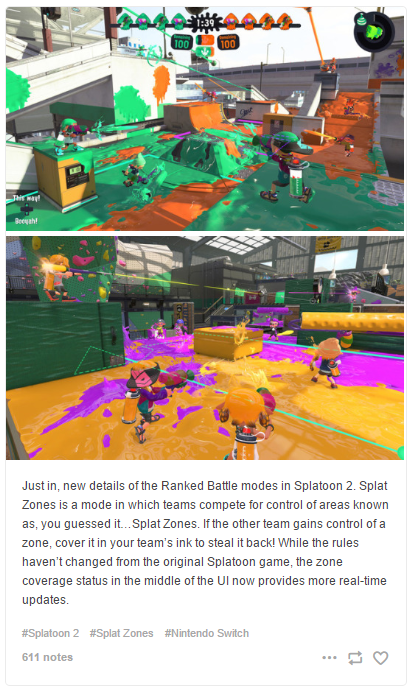 Splat zones