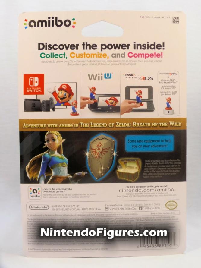 Zelda The Legend of Zelda Breath of the Wild Amiibo Box Back