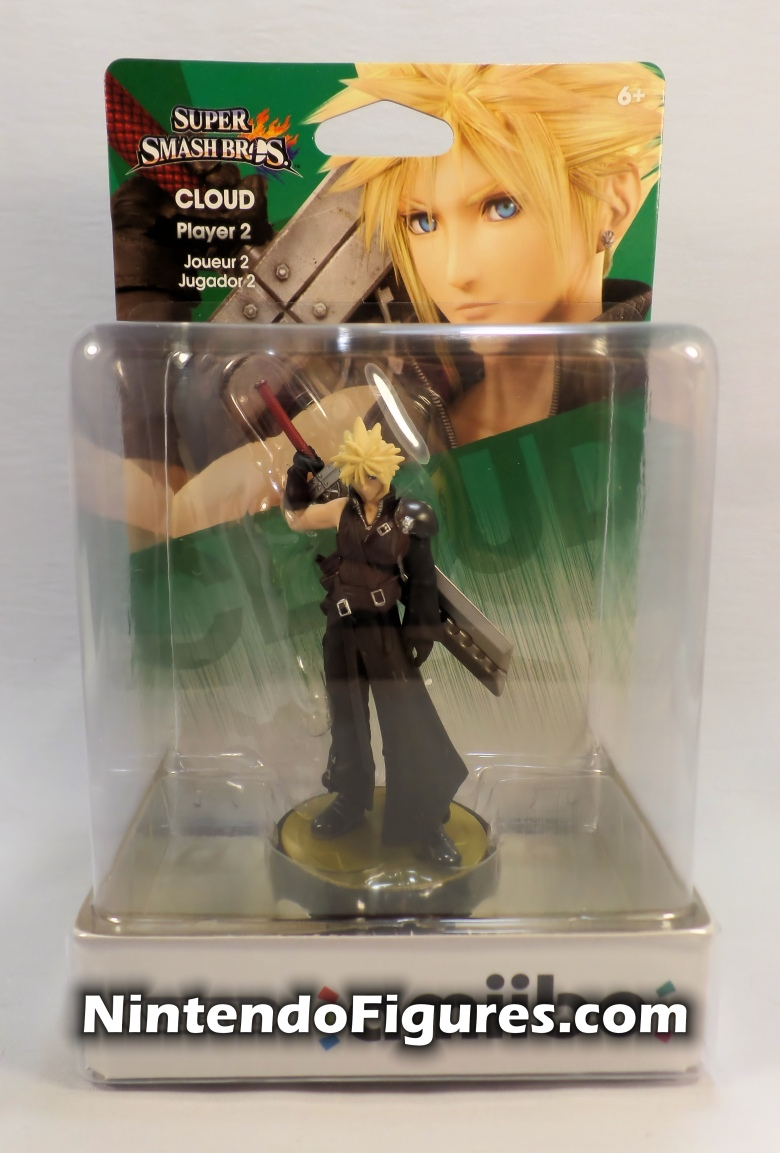 Cloud Strife Player Two Amiibo Super Smash Brothers Final Fantasy 7 Front Box