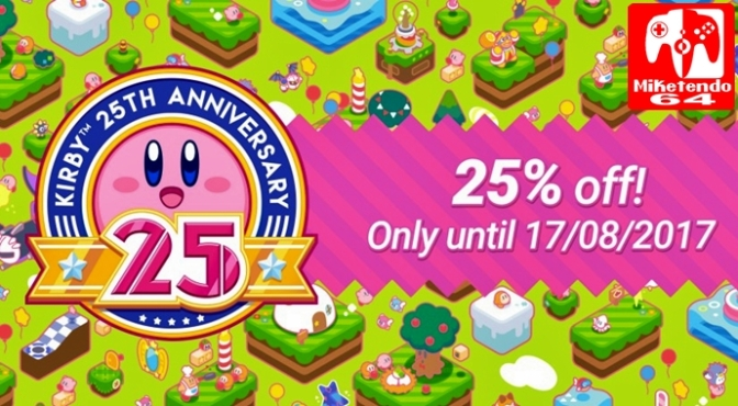 [Europe] Celebrate 25 Years of Kirby with a 25% off Kirby Sale!