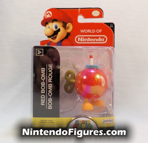 "Red Bob-omb World of Nintendo 2.5"" Inch Figure Box Front"