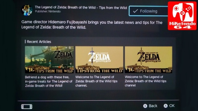 "Zelda: Breath Of The Wild Tips Channel ""Hello Everybody!"""