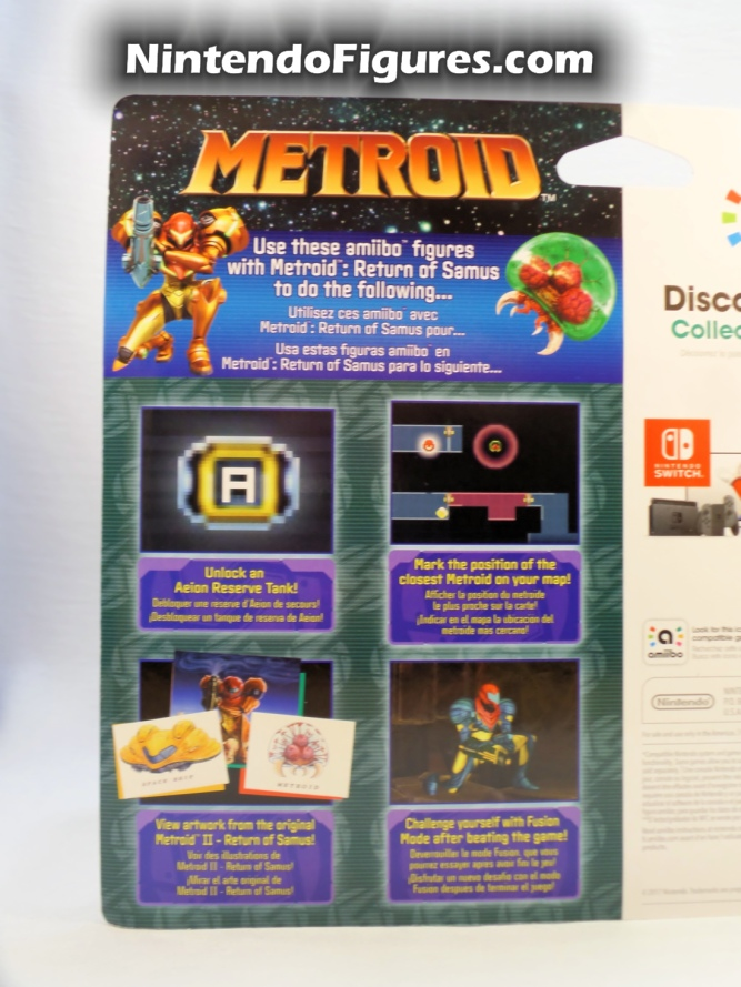 Metroid Samus Aran and Metroid Amiibo 2-Pack Box Back