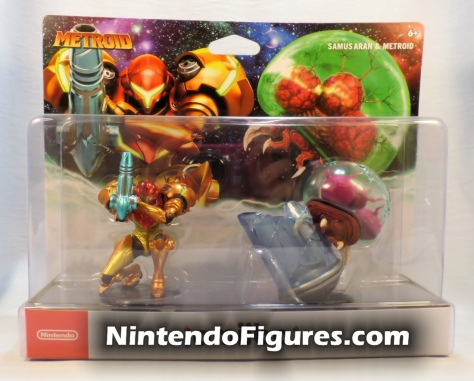 Metroid Samus Aran and Metroid Amiibo 2-Pack Box Front