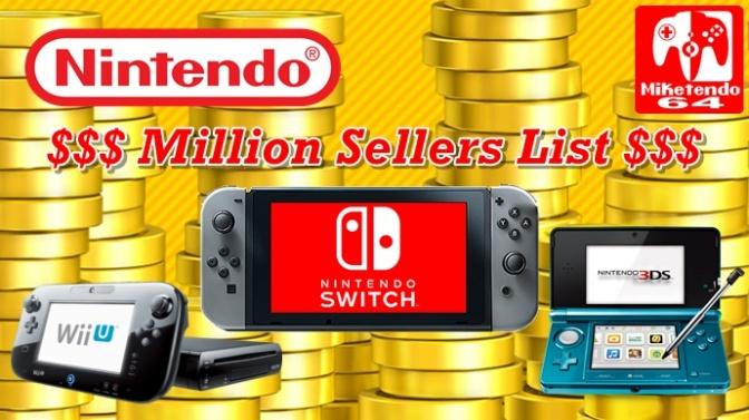 Nintendo Million Sellers List Updated (October 2017)