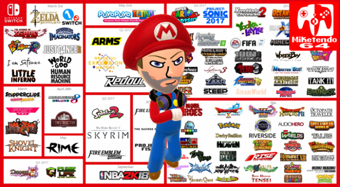 Switch & 3DS Software Release Schedule October 2017