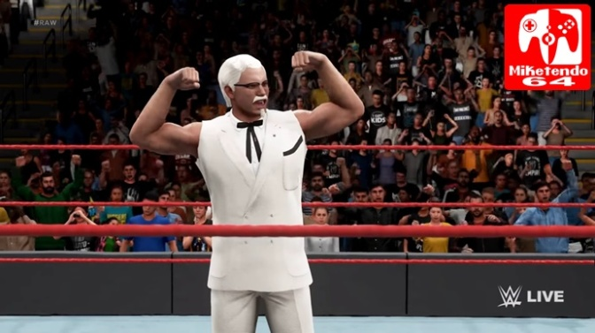 [Video] WWE 2K18 Will Feature KFC Colonel Sanders As A Playable Character