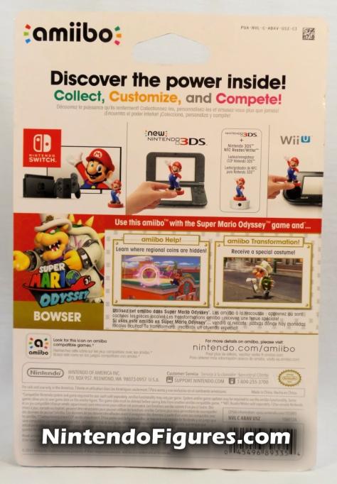 Bowser Super Mario Odyssey Amiibo Box Back Nintendo