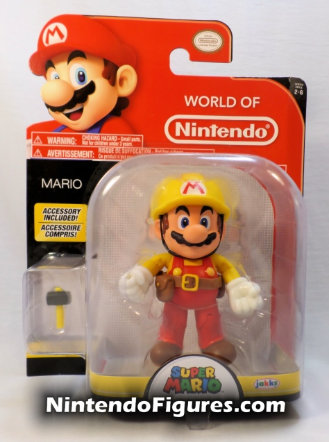 "Mario Super Mario Maker World of Nintendo 4"" Figure Box Front"
