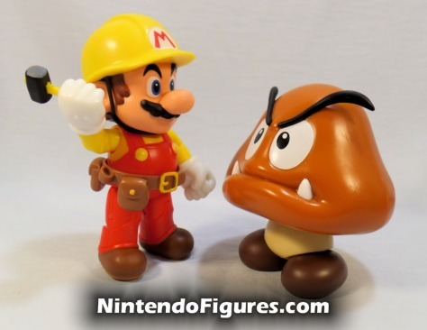 "Mario Super Mario Maker World of Nintendo 4"" Figure with Goomba"
