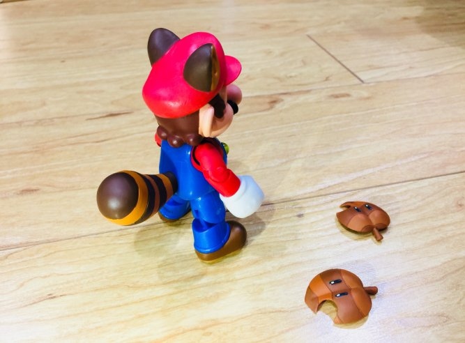 "Raccoon Mario World of Nintendo 4"" Figure Jakks Pacific Teaser"