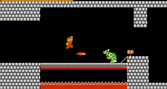 Super Mario Brothers NES 8-Bit Bowser Screenshot